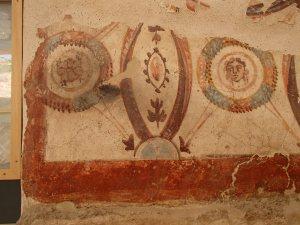 Schilderwerk 2000 jaar oud, gemaakt door de romeinen.