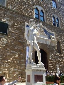 David, kopie voor het Palazzo Vecchio